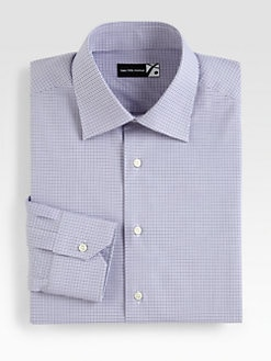 Saks Fifth Avenue Men's Collection - Checked Cotton Dress Shirt