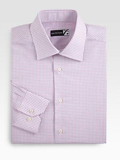 Saks Fifth Avenue Men's Collection - Check Cotton Dress Shirt