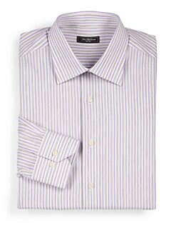 Saks Fifth Avenue Men's Collection - Striped Cotton Dress Shirt