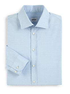Armani Collezioni - Fine-Line Checked Dress Shirt