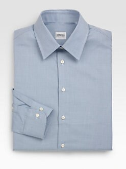 Armani Collezioni - Printed Cotton Dress Shirt