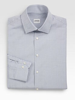 Armani Collezioni - Checked Cotton Sportshirt