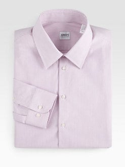 Armani Collezioni - Textured Stripe Dress Shirt