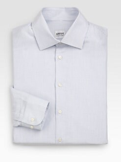 Armani Collezioni - Cotton-Blend Dress Shirt
