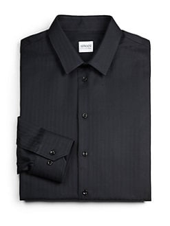 Armani Collezioni - Tonal Stripe Dress Shirt