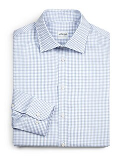Armani Collezioni - Large Check Cotton Dress Shirt