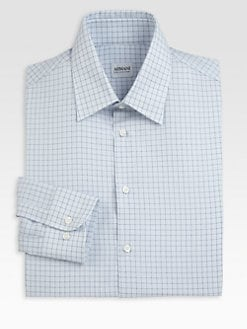 Armani Collezioni - Windowpane Dress Shirt