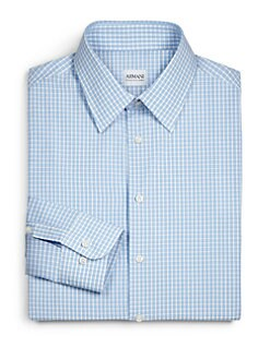 Armani Collezioni - Checked Cotton Dress Shirt