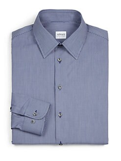 Armani Collezioni - Mini Check Cotton Dress Shirt