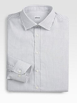 Armani Collezioni - Check Cotton Dress Shirt