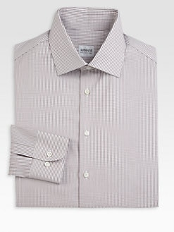 Armani Collezioni - Mini Check Dress Shirt