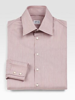 Armani Collezioni - Striped Chambray Dress Shirt