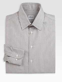 Armani Collezioni - Track Stripe Dress Shirt