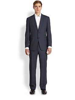 Armani Collezioni - Two-Button Pinstriped Suit