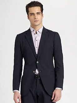 Armani Collezioni - Seersucker Striped Sportcoat