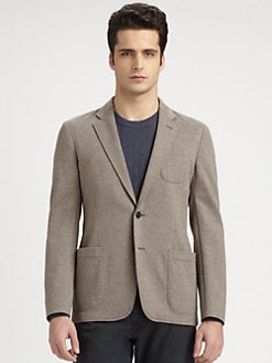 Armani Collezioni - Knit Cotton & Wool Blazer