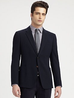 Armani Collezioni - Wool-Blend Crepe Blazer