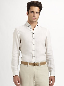 Armani Collezioni - Textured Solid Sportshirt