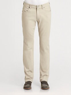 Armani Collezioni - Light Stone-Washed Denim Jeans