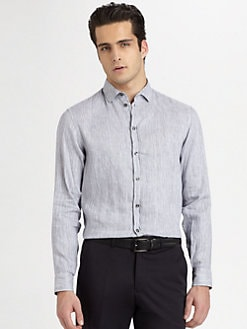 Armani Collezioni - Vertical Striped Sportshirt