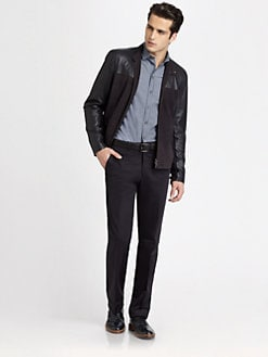 Armani Collezioni - Perforated Leather Jacket