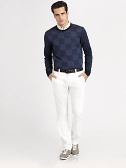 Armani Collezioni - Patterned Crewneck Sweater