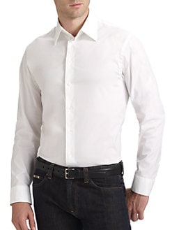 Armani Collezioni - Cotton Stretch Sportshirt
