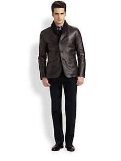 Armani Collezioni - Shawl-Collar Leather Jacket