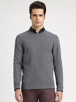 Armani Collezioni - Diamond-Patterned Jersey Sweater