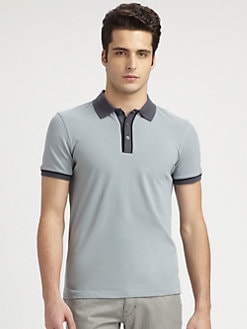 Armani Collezioni - Contrast-Trimmed Stretch Cotton Polo Shirt