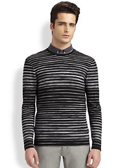 Armani Collezioni - Striped Stretch Jersey Sweater