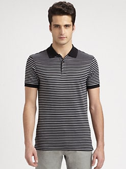 Armani Collezioni - Striped Stretch Jersey Polo Shirt