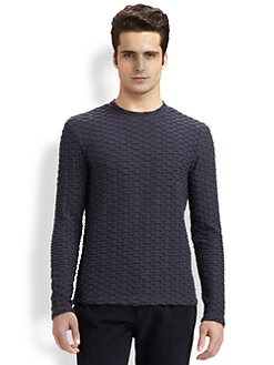 Armani Collezioni - Basketweave-Textured Sweater