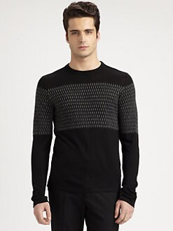 Armani Collezioni - Patterned Wool-Blend Sweater