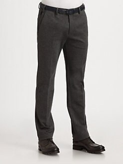 Armani Collezioni - Jersey Flat Front Trousers