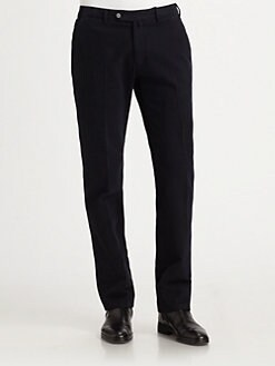 Armani Collezioni - Stretch Cotton Straight-Leg Pants