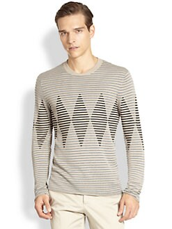 Armani Collezioni - Striped Argyle Sweater