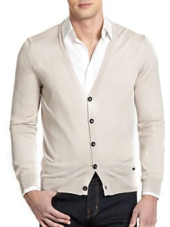 Armani Collezioni - Wool Button-Up Cardigan
