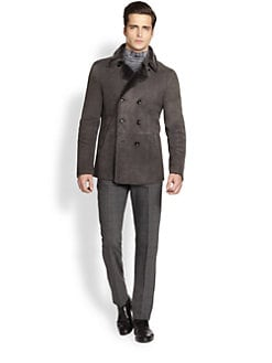 Armani Collezioni - Double-Breasted Shearling Jacket