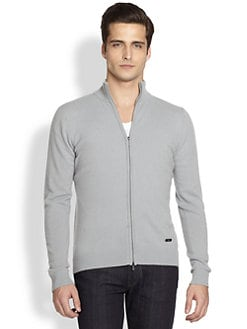 Armani Collezioni - Zip-Up Cashmere Sweater