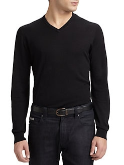 Armani Collezioni - Silk/Cotton V-neck Shirt