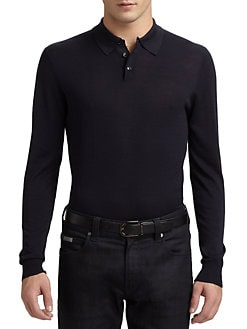 Armani Collezioni - Silk/Cotton Polo Shirt