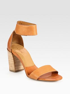 Chloe - Leather Ankle Strap Sandals