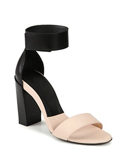 Chloe - Bicolor Leather Ankle Strap Sandals