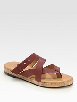 Chloe - Leather & Cork Sandals