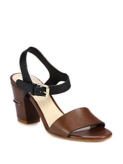 Chloe - Bicolor Leather Sandals