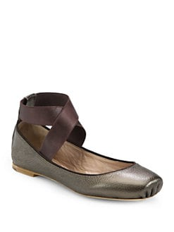 Chloe - Metallic Leather Ballet Flats
