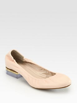 Chloe - Leather Plexi-Heel Pumps