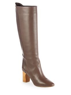 Chloe - Leather Knee-High Boots