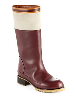 Chloe - Leather & Suede Striped Boots
